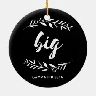 Gamma Phi Beta Big Wreath Christmas Ornament