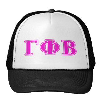 Gamma Phi Beta Bright Pink Letters Cap