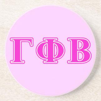 Gamma Phi Beta Bright Pink Letters Coaster
