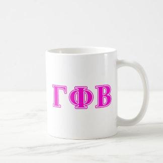 Gamma Phi Beta Bright Pink Letters Coffee Mug