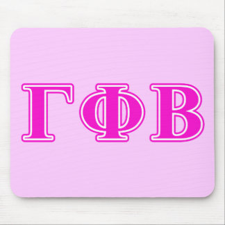 Gamma Phi Beta Bright Pink Letters Mouse Mat
