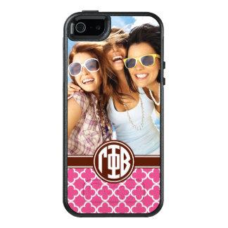 Gamma Phi Beta   Custom Monogram Pattern OtterBox iPhone 5/5s/SE Case
