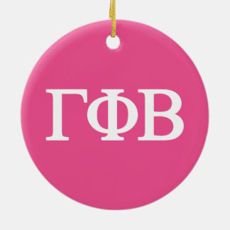 Gamma Phi Beta Lil Big Logo Christmas Ornament