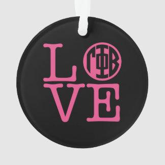 Gamma Phi Beta Love Ornament
