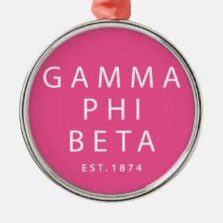 Gamma Phi Beta Modern Type Christmas Ornament