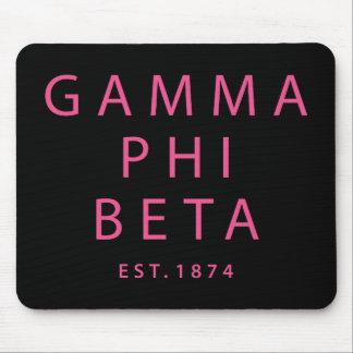 Gamma Phi Beta Modern Type Mouse Mat