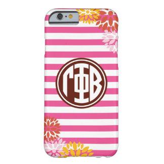 Gamma Phi Beta | Monogram Stripe Pattern Barely There iPhone 6 Case