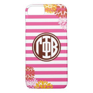 Gamma Phi Beta | Monogram Stripe Pattern iPhone 7 Case