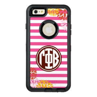 Gamma Phi Beta | Monogram Stripe Pattern OtterBox Defender iPhone Case