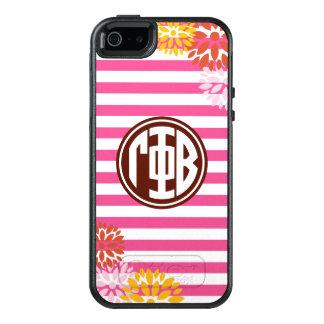 Gamma Phi Beta   Monogram Stripe Pattern OtterBox iPhone 5/5s/SE Case