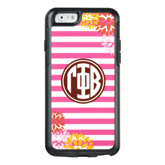 Gamma Phi Beta   Monogram Stripe Pattern OtterBox iPhone 6/6s Case