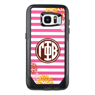 Gamma Phi Beta | Monogram Stripe Pattern OtterBox Samsung Galaxy S7 Edge Case
