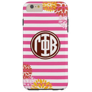 Gamma Phi Beta | Monogram Stripe Pattern Tough iPhone 6 Plus Case