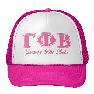 Gamma Phi Beta Pink Letters Cap