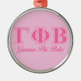 Gamma Phi Beta Pink Letters Christmas Ornament