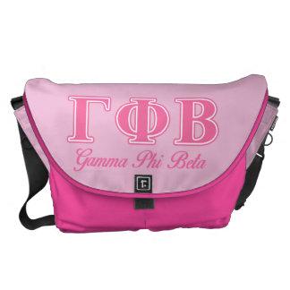 Gamma Phi Beta Pink Letters Messenger Bags