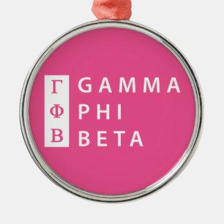 Gamma Phi Beta Stacked Christmas Ornament