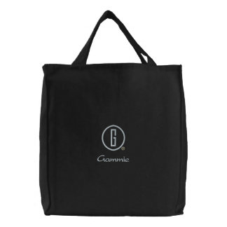 Gammie's Embroidered Tote Bag