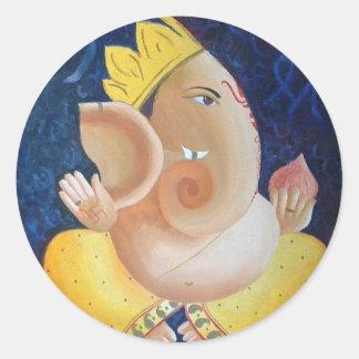 """Ganapati"" - round sticker"