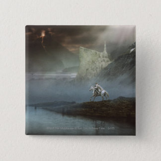 Gandalf Takes Hobbits to Guarded City 15 Cm Square Badge