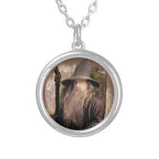 Gandalf With Staff Silver Plated Necklace