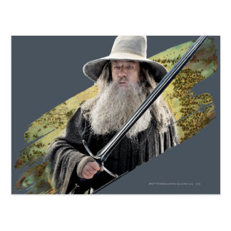 Gandalf With Sword Green Postcard