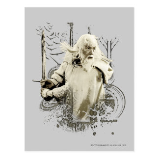 Gandalf with Sword Vector Collage Postcard