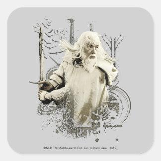 Gandalf with Sword Vector Collage Square Sticker