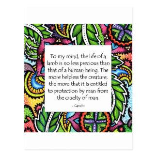Gandhi Animal Quote Postcard