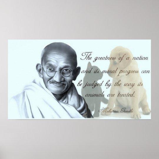 Gandhi animal quote poster