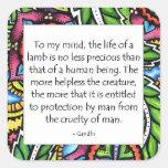 Gandhi Animal Quote Sticker