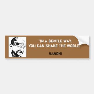 Gandhi Bumper Sticker