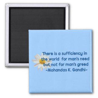 Gandhi Earth Quote Square Magnet