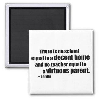 Gandhi Homeschool Square Magnet