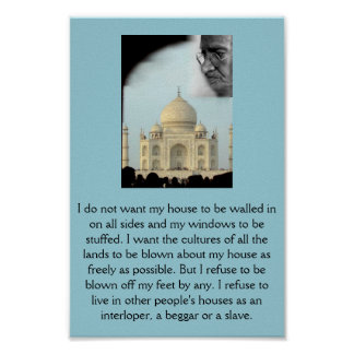 Gandhi: I want the cultures of all the lands . . . Poster