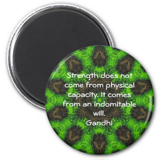 Gandhi Inspirational Motivational Quotation 6 Cm Round Magnet