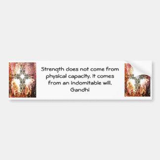 Gandhi Inspirational Motivational Quotation Bumper Sticker