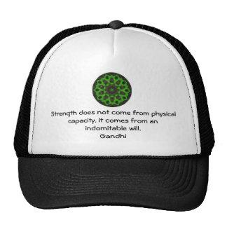 Gandhi Inspirational Motivational Quotation Cap