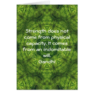 Gandhi Inspirational Motivational Quotation Card