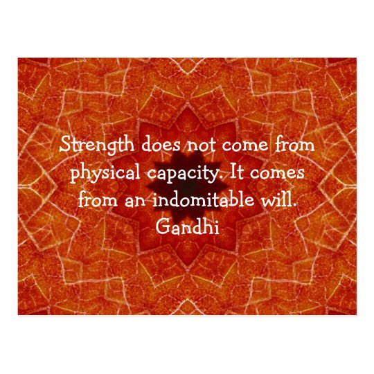 Gandhi Inspirational Motivational Quotation Postcard