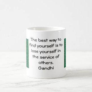 Gandhi Inspirational Quote About Self-Help Basic White Mug