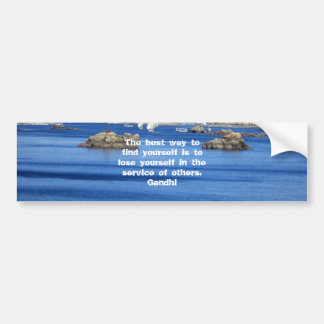 Gandhi Inspirational Quote About Self-Help Car Bumper Sticker