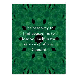 Gandhi Inspirational Quote About Self-Help Postcard