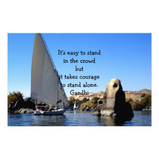 Gandhi Inspirational Quote Quotation About Courage Stationery Design