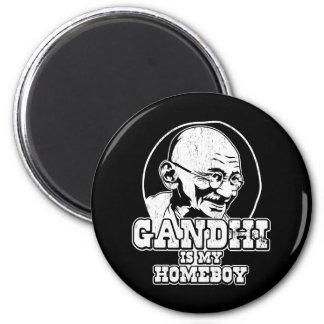 Gandhi is my Homeboy 6 Cm Round Magnet