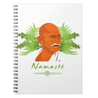Gandhi notebook