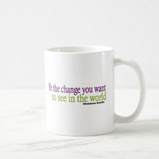 Gandhi Quote Classic White Coffee Mug