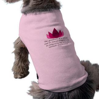 Gandhi Quote Sleeveless Dog Shirt