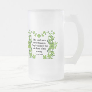Gandhi Quote The weak can never forgive Mugs