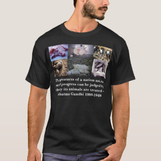 gandhi, The greatness of a nation and its moral... T-Shirt